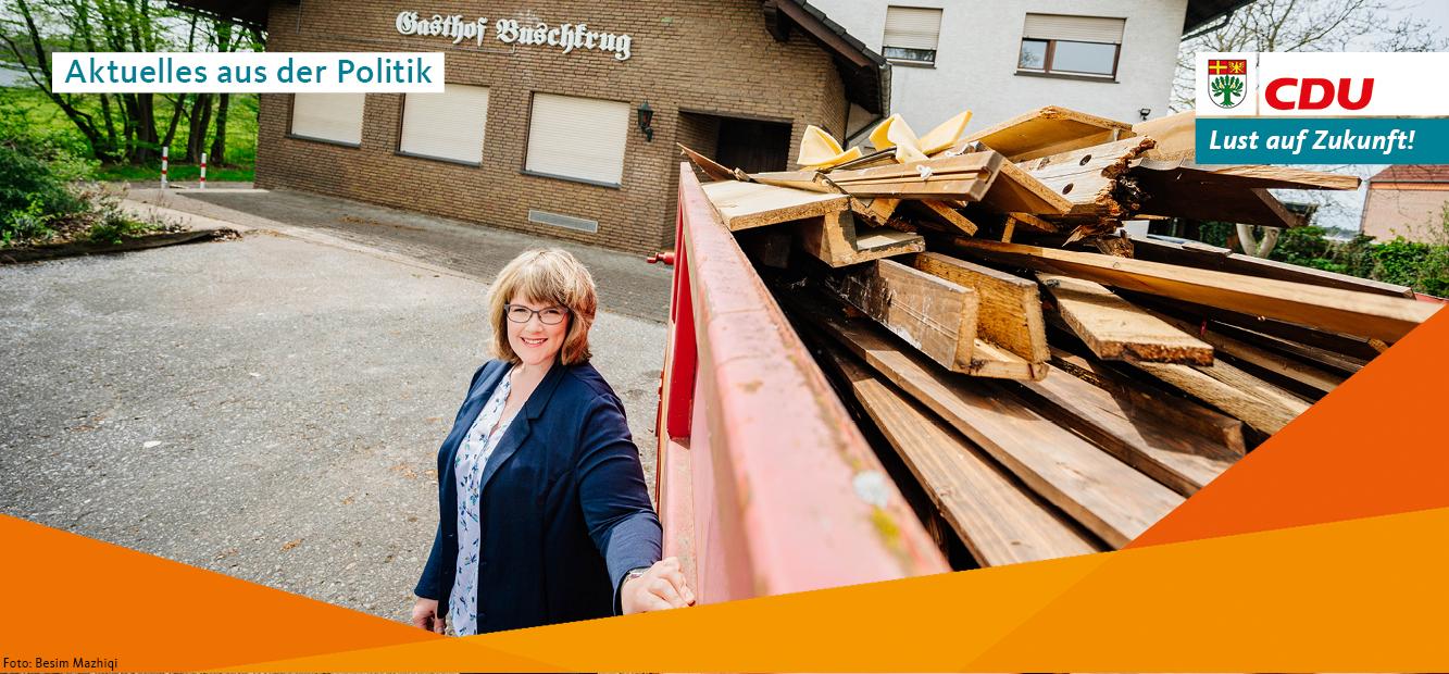 Der Gasthof Buschkrug an der Kaunitzer Straße. CDU-Ratsmitglied Astrid Zellermann befürwortet den Einzug des Vereins Pro Arbeit.